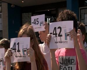 Stil protest tegen verplaatsing leraren