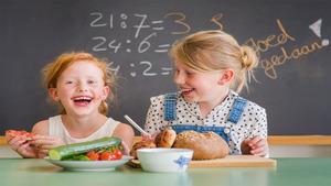 Schoolontbijt in het Raadhuis Sliedrecht