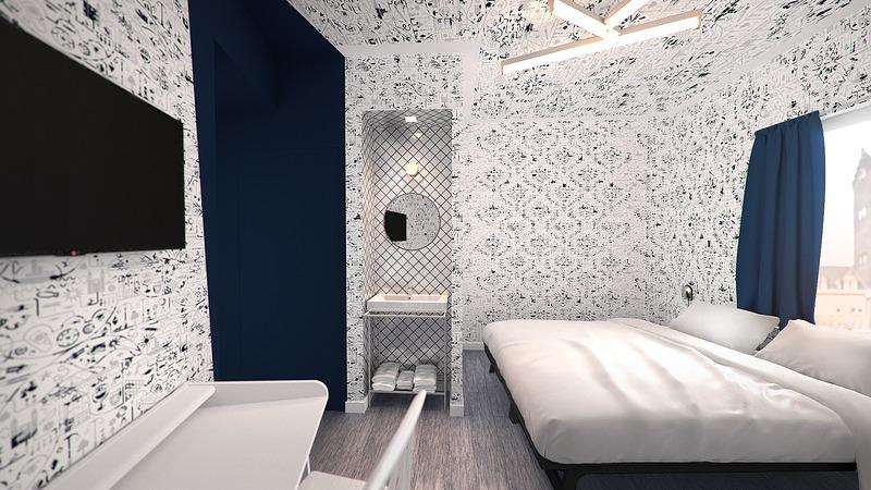 Kaboom-Hotel-Maastricht-kamer-blauw-3D-render