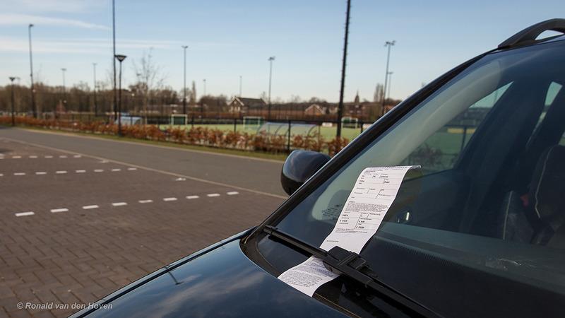 bekeuring auto