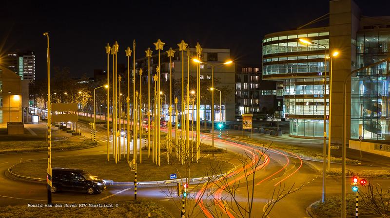 Ronald van den Hoven / RTV Maastricht__Stars of Europe Europa-rotonde avond.