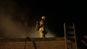 Brand (2x) in Helderse nacht