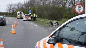 Automobilist gewond bij ongeval N99