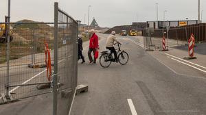 Ook laatste tijdelijke voetgangersbrug weg