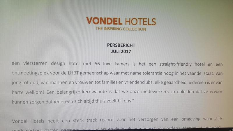 Persbericht Vondel Hotels