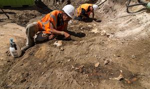 Onverwachte vondst graf in binnenstad