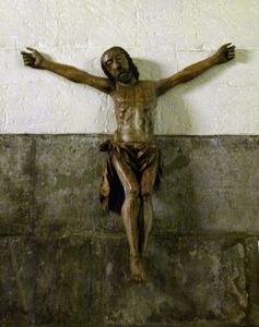 Houten Jezus beeld gestolen
