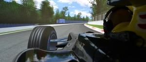 Simulatorcoureur in finale Formule 1-spel