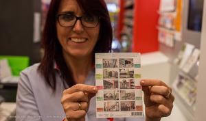 Gemeenteflat op postzegel