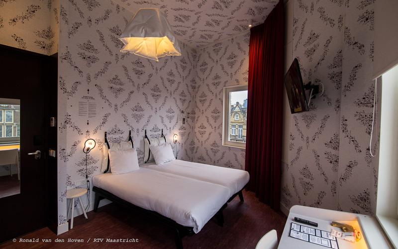 Kaboom Hotel Hotelkamer slaapkamer_Ronald van den Hoven / RTV Maastricht.
