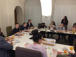 Broodje eten met de burgemeester