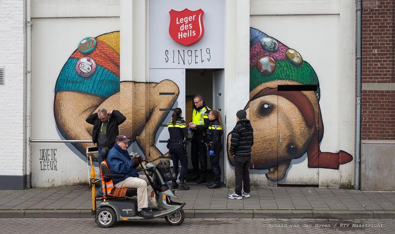 steekpartij Leger des Heils-Ronald van den Hoven / RTV Maastricht.